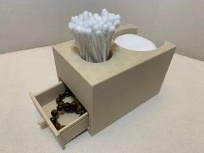 Bathroom Box - Cotton Swab and Pads holder