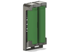 18650 holders with integrated spring