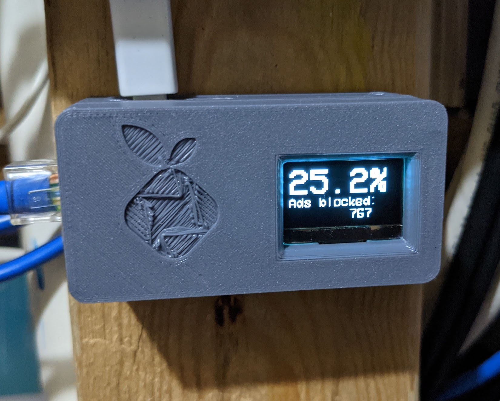 PiHole All in One Case with Pi Zero, Ethernet Adapter, and OLED Display