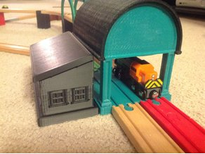 Train Station (Wooden Train/Brio/Thomas Compatible)