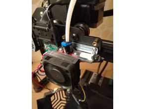 CR6 SE hotend 40mm fan adapter