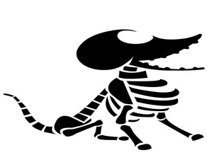 Skeleton Dog stencil