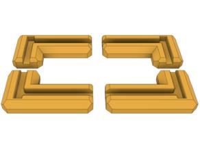 Z-Bolt Plus foot pads (polystyrene case 6mm)