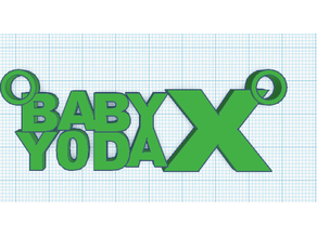 baby yoda x necklace/keychain thingy