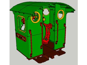 """Nueva locomotora Baldwin """"La Robla"""", cabina"""