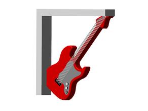 Fender Guitar Shelf Bracket (Nuclear Tape Mount)