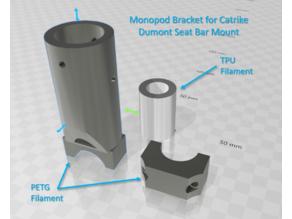 Catrike Camera Mount System Using a Monopod