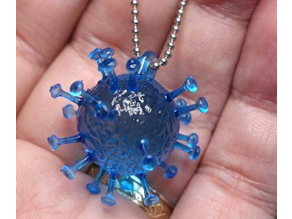 corona virus for 3d print Keychain