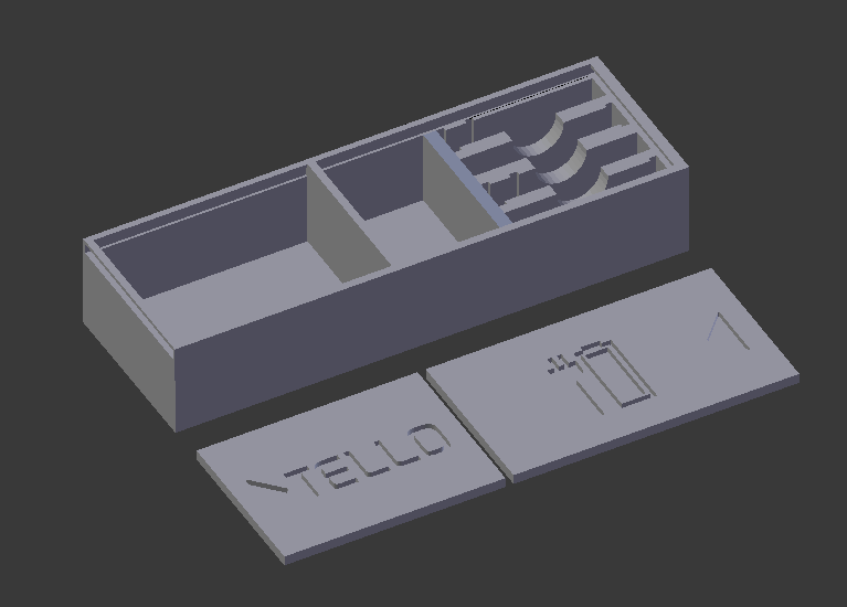 TELLO BOX for batteries, charging hub and drone parts