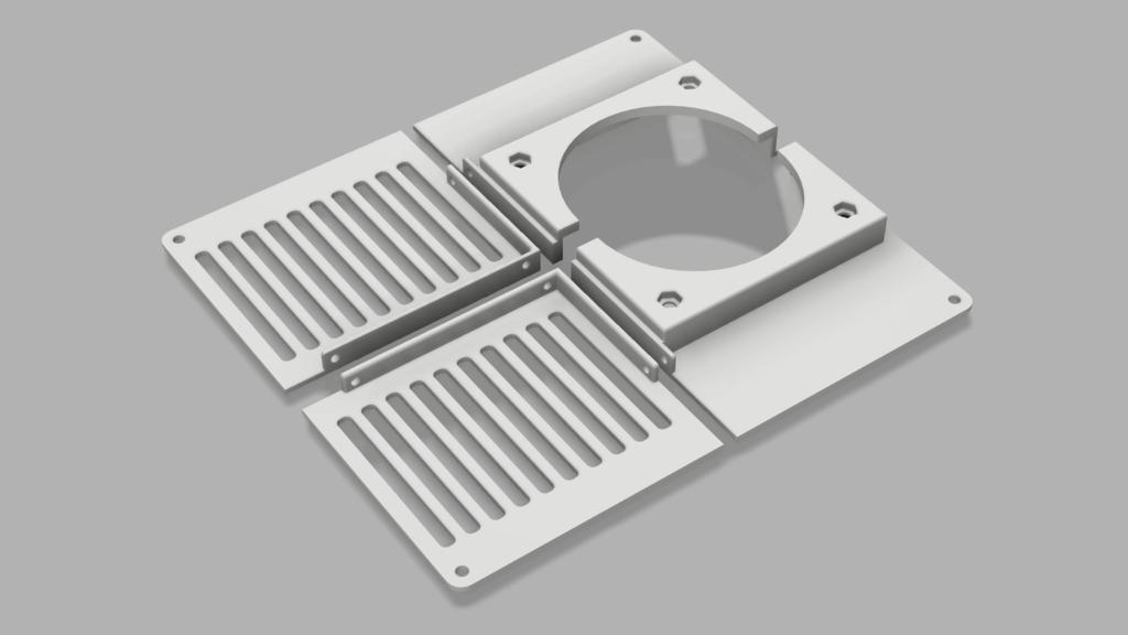FlashForge Adventurer 3 Bottom Cover for 80mm 10T cooling fan (printable on adv3)