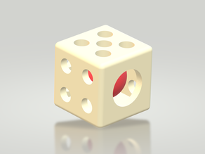 Hollow Dice with Ball Inside 玲珑骰子