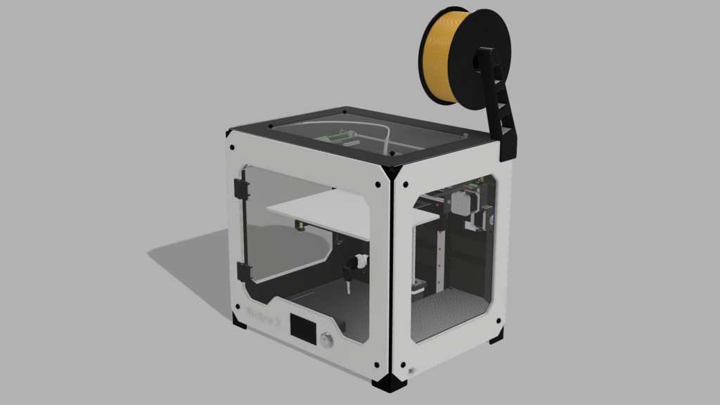 BQ Witbox 1 and 2 filament spool holder