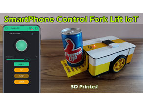 SmartPhone Control Fork Lift 3D Printed