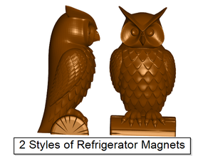 Owl Refrigerator / Whiteboard Magnets