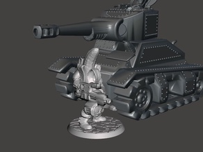 28mm Banana Space Guard with Heavy Weapon