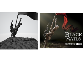 Black Sails intro sculpture