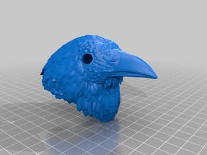 Crow/Raven Head For BJD