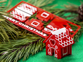 Gingerbread House Kit Card