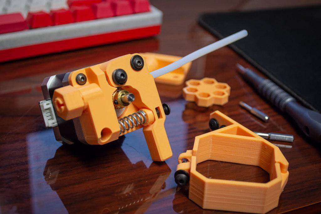 Bowden Extruder Block Assembly v2.0