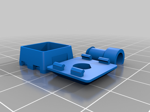 Parametric 3D Printable Mechanical Keyboard Switch (Using Compliant Spring)