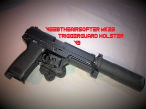 WeebTheAirsofter MK23/SSX23 triggerguard holster V3 RIGHT/ LEFT