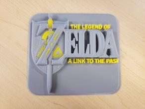 The Legend of Zelda A Link to the Past Cartridge Logo 3D Print
