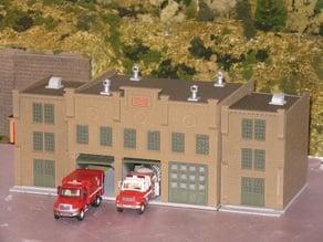 HO Scale Fire Station