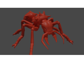 3D printable Giant Ant - Meshfix, Subdivided, Fallout NV