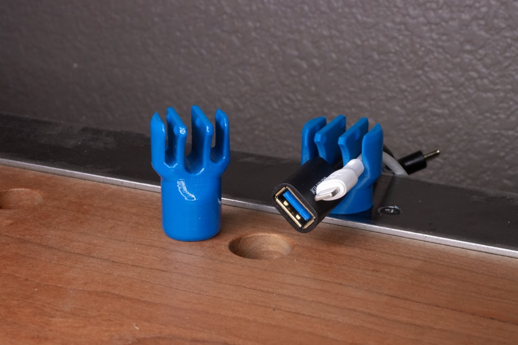 Cable Dogs & Magnets for 20mm Holes (for the Wickedly Usable Dog Desk)