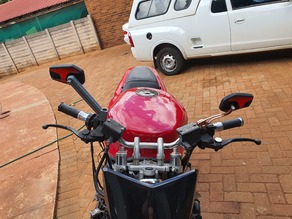 Motorcycle mirror stem