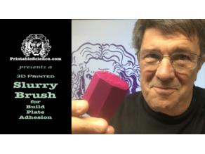 3D Printed Slurry Build Plate Bursh