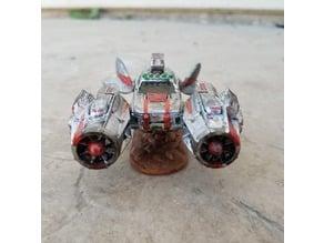 Mars Racing Federation Textured Hover Base (Gaslands)