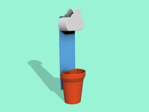 Vaso con nuvola rivisitato (Wall mount Cloud Pot remixed)