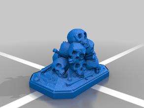 Skull piece miniture