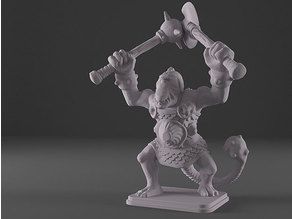 HeroQuest - Fimir Warlord with Axe and Mace