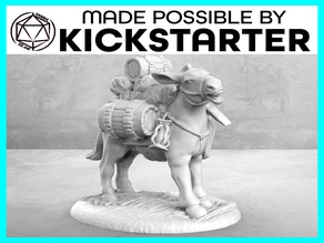 Pack Mule - Action Pose - Tabletop Miniature