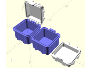 Parametrizable Rugged Box (OpenSCAD)