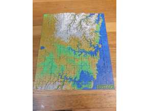 Sydney Puzzle Relief Map (120pcs)