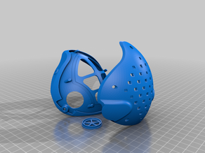3D printed Mask Model 2 with Exchangeable filter case