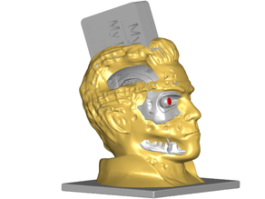 T800 Damaged Terminator Business Card Holder