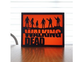 Walking Dead Silhouette Art