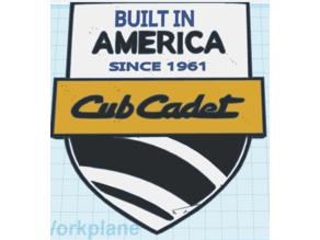 Cub Cadet-Built In America Plaque