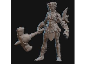 Triton Barbarian Miniature