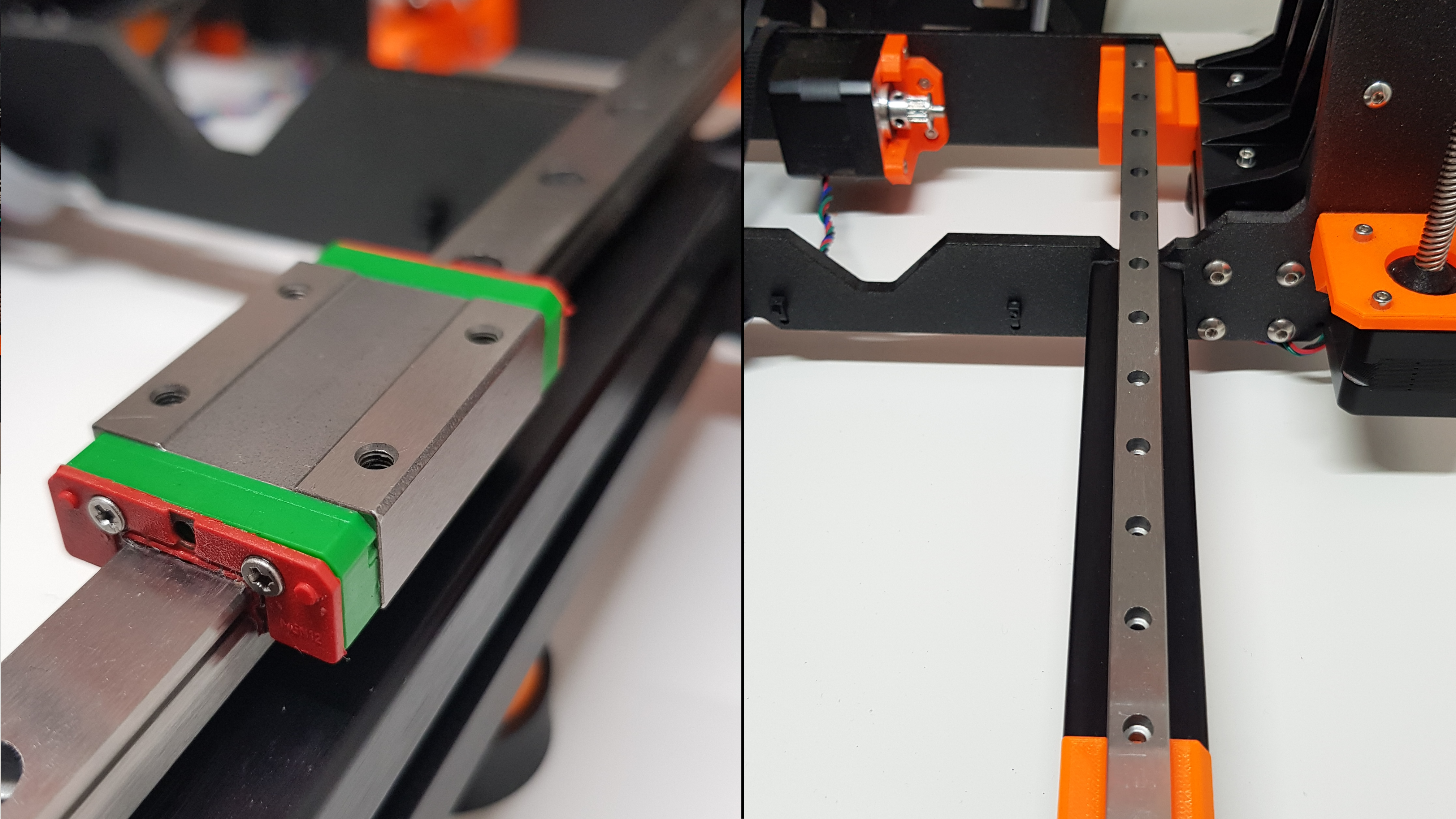 Prusa MK3 / MK3S Y-Axis Linear Rail Guide Upgrade