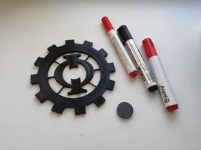40k Cult Mechanicus Symbol (whiteboard\fridge magnet)