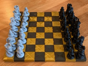 Parametric Interlocking Chess Board