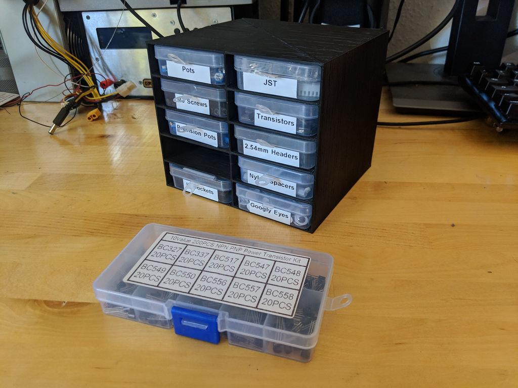 Small Parts Storage Shelf