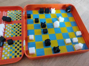 Mini pièces de jeu d'échecs BAUHAUS