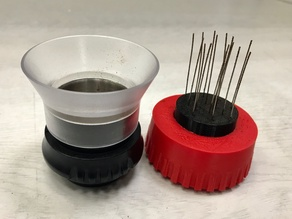 Needle WDT distribution tool for Flair espresso maker