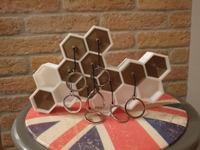 Honey wall mount key holder